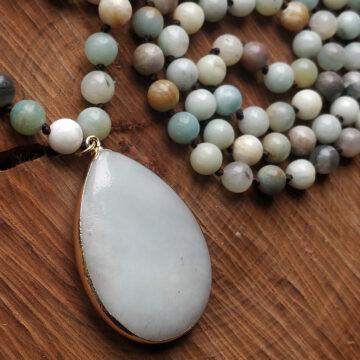 Amazonitový náhrdelník s velkým kamenem #2