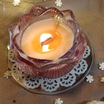 Skleněný tácek pod svíčku s mandalou #2