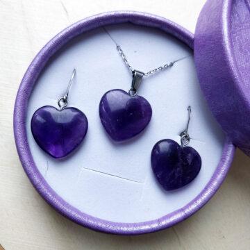 Sada šperků Ametystová srdce II #1