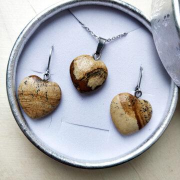 Sada šperků Jaspisová srdce #1