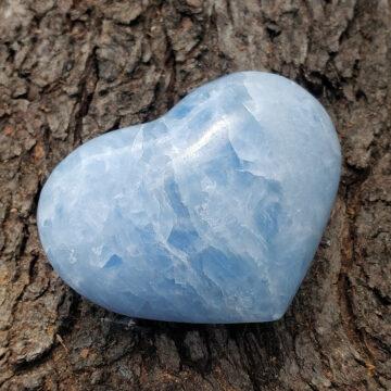 Tromlované srdce z celestýnu II #1